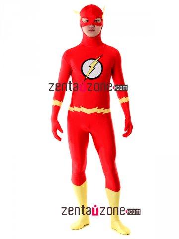 Authentic The Flash Lycra Spandex Superhero Zentai Costume 30386