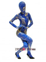Fashion Lycra Spandex Zentai With Flower Metallic Pattern