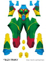 Custom Printed MJ Vision Zentai Costume
