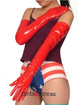 Red Long PVC Gloves