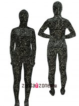 Rock Pattern Thicken Velvet Zentai Suit
