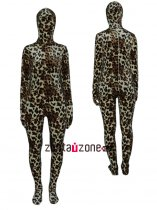 Leopard Thicken Velet Zentai Suit