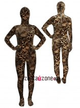 Leopard Thicken Velvet Full Body Zentai Suit