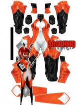 Custom Printed RENA ROUGE Zentai Costume