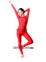 Red Spandex Lycra Catsuit Jumpsuit