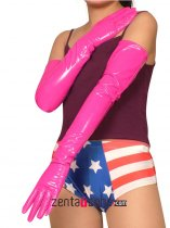 Pink Long PVC Gloves