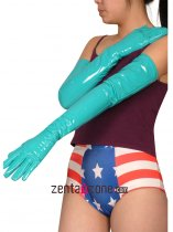 Light Blue Long PVC Gloves