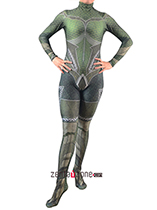 Custom Printed Queen Mera Zentai Costume