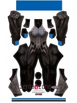Custom Printed Silk Blue Zentai Costume