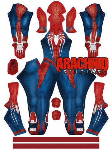 Custom Printed Female PS4 Spiderman V2 Zentai Costume [40176