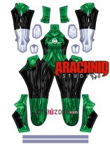Custom Printed Green Lantern Jade Female Zentai Costume