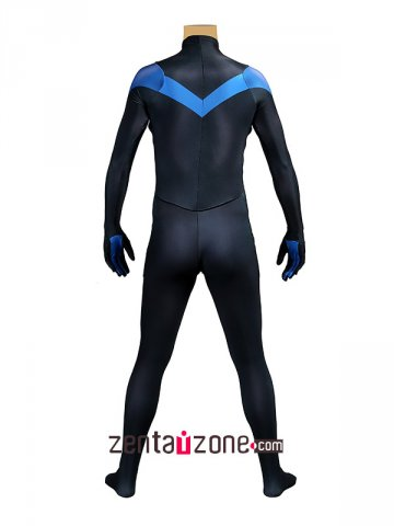 Blue And Black Nightwing Zentai Costume