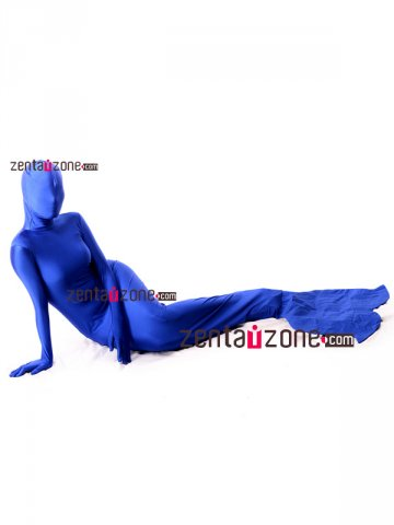 Blue Spandex Lycra Mermaid Zentai Bodysuit