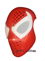 White Scarlet Spiderman Faceshell With Magnetic Lenses